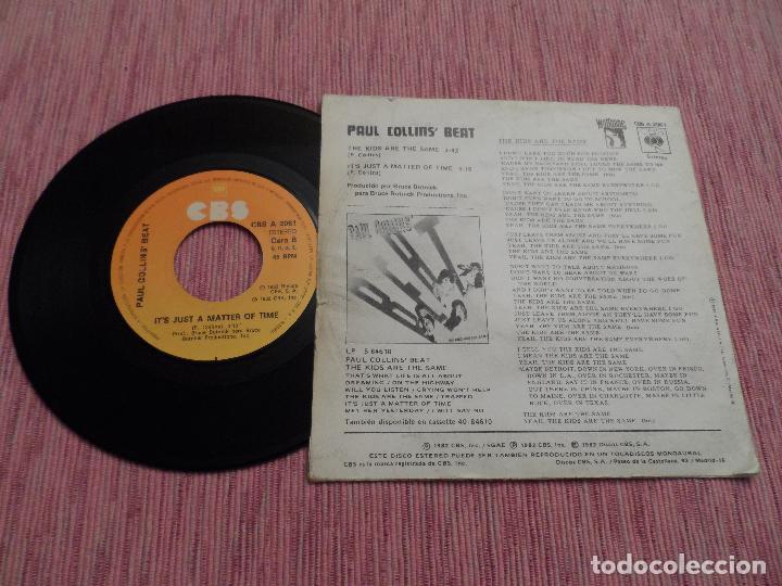 Discos de vinilo: PAUL COLLINS BEAT - THE KIDS ARE THE SAME - Foto 2 - 125027055
