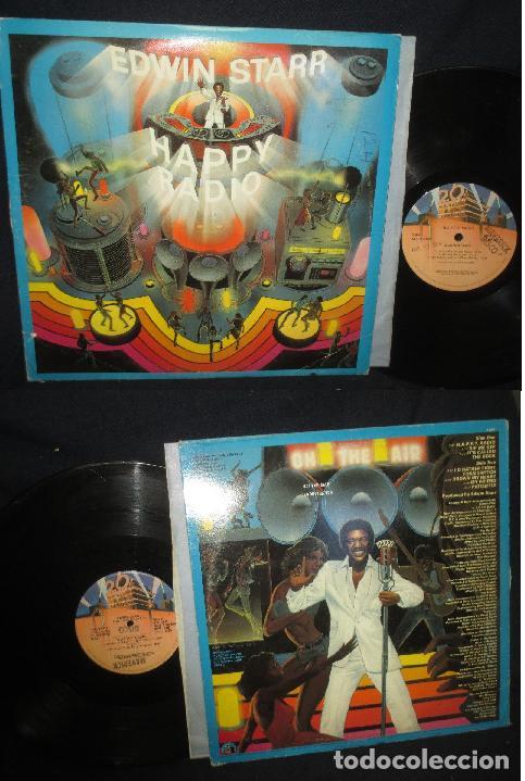 EDWIN STARR - HAPPY RADIO 1979, SOUL FUNK DISCOS, ORG EDT USA (Música - Discos - LP Vinilo - Funk, Soul y Black Music)