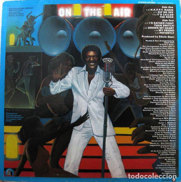 Discos de vinilo: edwin starr - happy radio 1979, soul funk discos, org edt usa - Foto 2 - 125058643