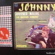 Discos de vinilo: JOHNNY HALLIDAY- JOVENES MALOS. EP.. Lote 125069543