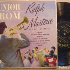 Discos de vinilo: RALPH MARTERIE AND HIS ORCHESTRA - JUNIOR PROM - LP 10 PULGADAS - MERCURY. Lote 125073383