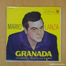 Discos de vinilo: MARIO LANZA - GRANADA + 3 - EP. Lote 125081094