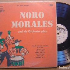 Discos de vinilo: NORO MORALES AND HIS ORCHESTRA PLAY - LP 10 PULGADAS USA - VARSITY. Lote 125109639