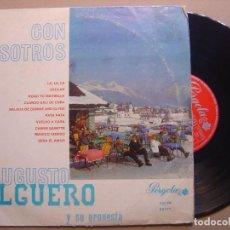 Discos de vinilo: AUGUSTO ALGUERO Y SU ORQUESTA - CON NOSOTROS - LP 10 PULGADAS 1968 - PERGOLA. Lote 125112399