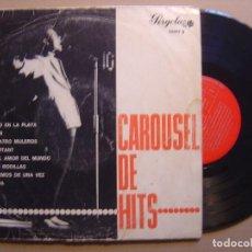 Discos de vinilo: VARIOS - CAROUSEL DE HITS - LP 10 PULGADAS 1965 - PERGOLA - ALFREDO / JORGE / LOS SONOR. Lote 125114059