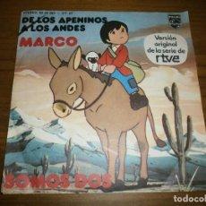 Discos de vinilo: DE LOS APENINOS A LOS ANDES - MARCO Y SOMOS DOS - VERSIÓN ORIGINAL DE LA SERIE DE RTVE - PHILIPS ,19. Lote 125115359