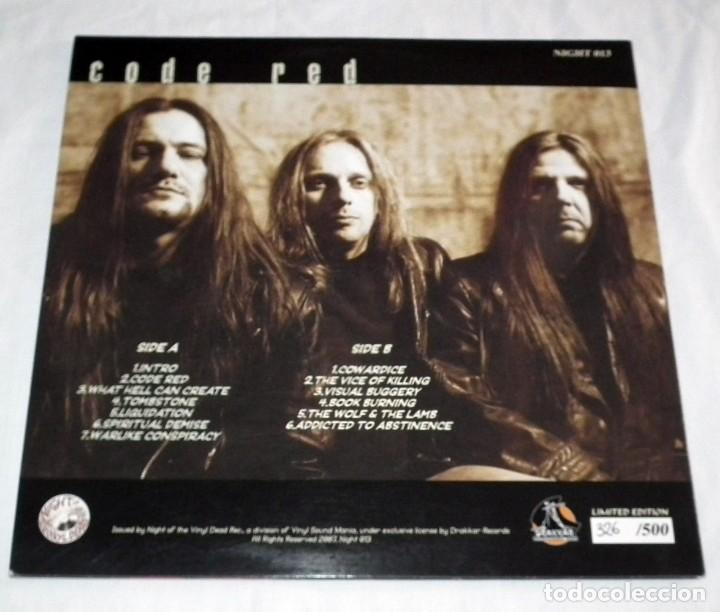 Discos de vinilo: LP SODOM - CODE RED - Foto 2 - 125115995