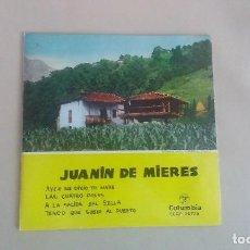Discos de vinilo: EP JUANIN DE MIERES AYER ME DIXO TO MARE TONADA ASTURIANA VINILO. Lote 125123215