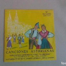 Discos de vinilo: EP CANCIONES ASTURIANAS AGRUPACION LANGREANA CORO SANTIAGUIN TONADA ASTURIANA VINILO. Lote 125123751