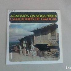 Discos de vinilo: EP AGARINOS DA NOSA TERRA CANCIONES DE GALICIA 1 FOLKLORE GALLEGO VINILO. Lote 125124403