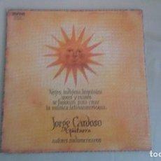 Discos de vinilo: LP JORGE CARDOSO Y SU GUITARRA NEGRO, INDIGENA, HISPANICO FOLKLORE VINILO. Lote 125126859