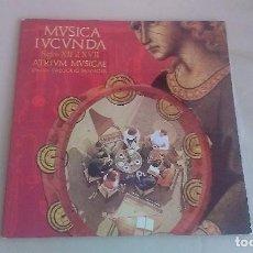 Discos de vinilo: LP GREGORIO PANIAGVA MVSICA IVCVNDA SIGLOS XII AL XVII FOLKLORE VINILO. Lote 125127731