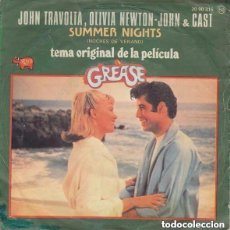 Discos de vinilo: JOHN TRAVOLTA & OLIVIA NEWTON-JOHN / LOUIS ST. LOUIS – SUMMER NIGHTS (NOCHES DE VERANO) SINGLE 1978. Lote 125133587