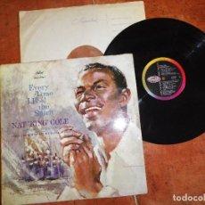 Discos de vinilo: NAT KING COLE & FIRST CHURCH OF DELIVERANCE CHOIR EVERY TIME I FEEL THE SPIRIT LP VINILO 1959 UK . Lote 125156407