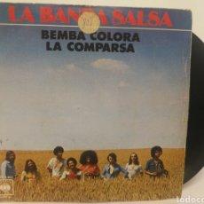 Discos de vinilo: LA BANDA SALSA - BEMBA COLORA - LA COMPARSA. Lote 125158043