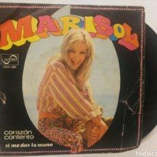 Discos de vinilo: MARISOL - CORAZON CONTENTO. Lote 125161780