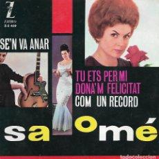 Discos de vinilo: SALOME - SE'N VA ANAR (1963). Lote 125186411