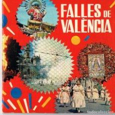 Discos de vinilo: SINGLES SOBRE FALLAS DE VALENCIA. AÑO 1970. ALBUM CON FOTOS EN COLOR DE FALLAS,ESCRITO EN VALENCIANO. Lote 125218747