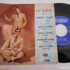Discos de vinilo: LOS ANDINOS-EP AMOR Y LOTERIA +3. Lote 125228115