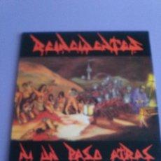 Discos de vinilo: GENIAL LP. REINCIDENTES-NI UN PASO ATRAS - HILARGI RECORDS /DISCOS SUICIDAS AÑO 1991 //CON ENCARTE.. Lote 125231067