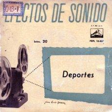 Discos de vinilo: EFECTOS DE SONIDO VOL.20 (DEPORTES) EP 1959. Lote 125260659