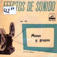 Discos de vinilo: ESFECTOS DE SONIDO Nº 24 (MASAS Y GRUPOS) EP 1960. Lote 125261107