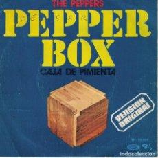 Discos de vinilo: THE PEPPERS - PEPPER BOX / PINCH OF SALT (SINGLE ESPAÑOL, BARCLAY 1973). Lote 125261211