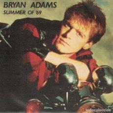 Discos de vinilo: BRYAN ADAMS - SUMMER OF 69 / THE BEST WAS YET TO COME (SINGLE ESPAÑOL, AM RECORDS 1983). Lote 125265179