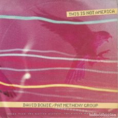 Discos de vinilo: DAVID BOWIE WITH PAT METHENY GROUP - THIS IS NOT AMERICA / INSTRUMENTAL VERSION . Lote 125272131