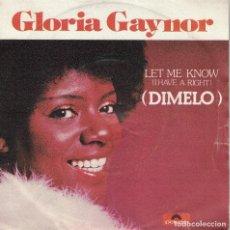 Discos de vinilo: GLORIA GAYNOR - LET ME KNOW / ONE NUMBER ONE (SINGLE ESPAÑOL, POLYDOR 1979). Lote 125272399