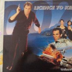 Discos de vinilo: TER LICENCE TO KILL JAMES BOND 007 BSO LP VINILO VG++. Lote 125273003