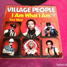 Discos de vinilo: VILLAGE PEOPLE - I AM WHAT I AM KEY WEST SINGLE. Lote 125274311
