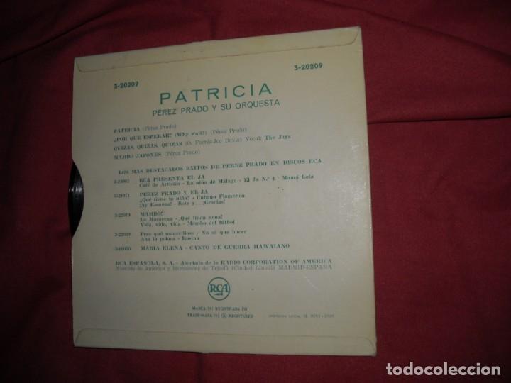 Discos de vinilo: Perez Prado Y Su Orquesta – Patricia + 3 / EP RCA ?3-20209 - 1958 spain - Foto 2 - 125274583