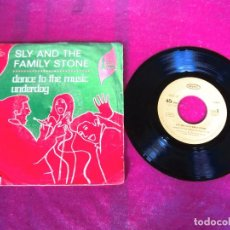 Discos de vinilo: SLY AND THE FAMILY STONE DANCE TO THE MUSIC UNDERDOG SINGLE. Lote 125275307