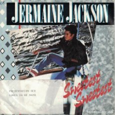Discos de vinilo: JERMAINE JACKSON - SWEETEST SWEETEST / COME TO ME (SINGLE PROMO ESPAÑOL, ARISTA 1984). Lote 125279635