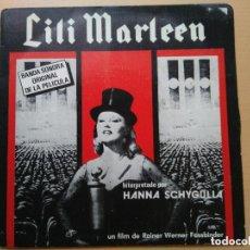 Discos de vinilo: LILI MARLEEN - BSO PELICULA HANNA SCHYGULLA. RAINER WERNER FASSBINDER (SG) 1981. Lote 125280859