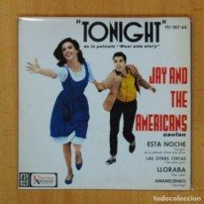 Discos de vinilo: JAY AND THE AMERICANS CANTAN - ESTA NOCHE + 3 - EP. Lote 125289016