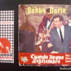 Discos de vinilo: BOBBY DARIN- CUANDO LLEGUE SEPTIEMBRE. EP.. Lote 125289563