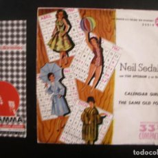 Discos de vinilo: NEIL SEDAKA- CALENDAR GIRL. SINGLE. . Lote 125289715
