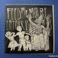 Discos de vinilo: EP - SPLIT - CRUST / GRIND - FEED ME MORE Y CATARRO - BRASIL / ITALIA. Lote 125290963
