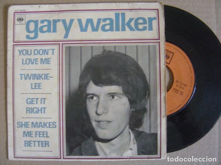 GARY WALKER - YOU DON´T LOVE ME - EP 1966 - CBS (Música - Discos de Vinilo - EPs - Pop - Rock Extranjero de los 50 y 60)