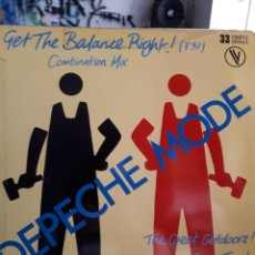 Discos de vinilo: DEPECHE MODE GET THE BALANCE RIGHT. Lote 125305862