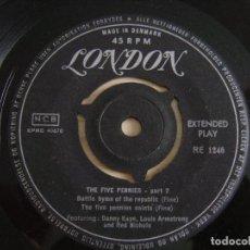 Discos de vinilo: DANNY KAYE AND LOUIS ARMSTRONG ?– THE FIVE PENNIES PART 2 - EP DANES - LONDON. Lote 125306523