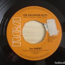 Discos de vinilo: THE SWEET - THE BALLROOM BLITZ + ROCK & ROLL DISGRACE - SINGLE HOLANDES 1973 - RCA. Lote 125307647