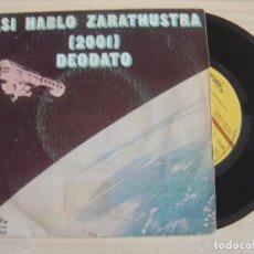 Discos de vinilo: EUMIR DEODATO - ASÍ HABLÓ ZARATHUSTRA 2001 - ESPÍRITU DEL VERANO - SINGLE 1973 - CTI. Lote 125308207
