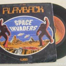 Discos de vinilo: PLAYBACK - SPACE INVADERS + A MENACING GLOW IN THE SKY - SINGLE ESPAÑOL 1980 - WEA. Lote 125318187