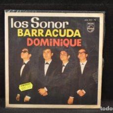 Discos de vinilo: LOS SONOR - BARRACUDA / DOMINIQUE +2 - EP. Lote 125322587