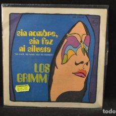 Discos de vinilo: LOS GRIMM - SIN NOMBRE, SIN FAZ NI SILUETA / WANT MY LOVE AGAIN - SINGLE. Lote 125323395