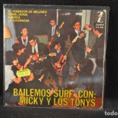 Discos de vinilo: MICKY Y LOS TONYS - VERDE VERDE +3 - EP. Lote 125324191