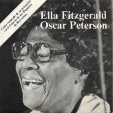 Discos de vinilo: ELLA FITZGERALD Y OSCAR PETERSON (1975). Lote 125397439